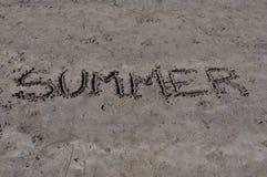 Лето на песке Стоковая Фотография