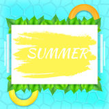Лето надписи на белом прямоугольнике бесплатная иллюстрация
