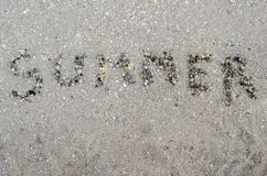Лето надписи от cockleshells Стоковые Фотографии RF