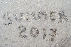 Лето надписи от cockleshells Стоковое Изображение
