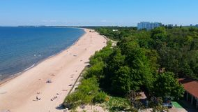 Лето на пляже Балтийского моря в Sopot акции видеоматериалы