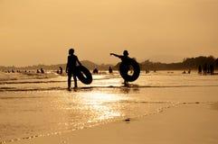 Лето на пляже Стоковая Фотография RF