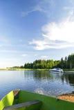 лето неба ландшафта славное яркое Стоковые Изображения