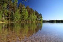 лето озера Финляндии Стоковая Фотография