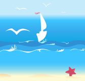 лето океана предпосылки Стоковая Фотография