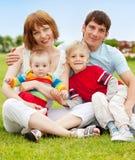 лето парка семьи Стоковое Фото
