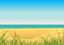 лето парусников открытки пляжа предпосылки Стоковые Фотографии RF