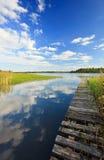 лето пейзажа озера s Стоковое Изображение RF