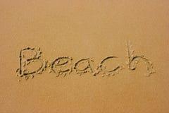 лето пляжа песочное Стоковое Изображение RF