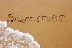 лето пляжа песочное Стоковое Изображение