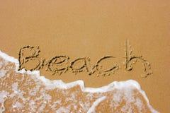 лето пляжа песочное Стоковая Фотография