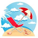 лето пляжа тропическое иллюстрация вектора