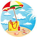 лето пляжа иллюстрация вектора