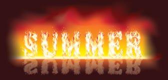 лето пожара en бесплатная иллюстрация