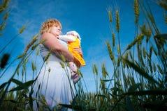 лето поля семьи Стоковые Фото