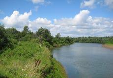 лето реки ландшафта Стоковое Изображение RF