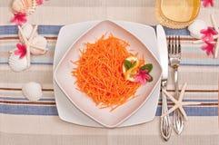 лето салата мяты лимона цветков морковей стоковые фотографии rf