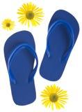 лето сандалий flop flip стоковая фотография