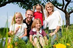 лето семьи счастливое Стоковое Изображение