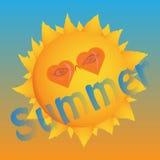 лето солнечное Шаблон логотипа для воссоздания вектор Стоковая Фотография