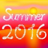 Лето 2016, солнечное красное лето Стоковые Фото