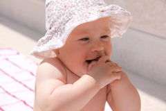 лето съемки ребёнка счастливое Стоковое фото RF