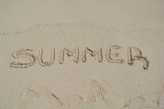 Лето с словом Стоковое Изображение RF