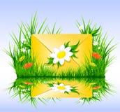 лето типа весны sms письма травы иллюстрация штока