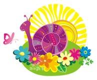 лето улитки цвета бабочки предпосылки Стоковые Изображения
