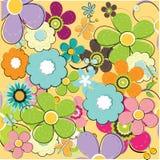 лето флористической картины безшовное иллюстрация вектора