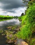 лето шторма реки Стоковые Фотографии RF