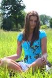 лето 5 девушок Стоковая Фотография RF