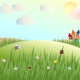Лето, glade, ложи и насекомые Стоковые Фото