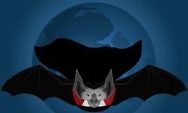 Летучая мышь в ноче - иллюстрация Стоковое Изображение RF