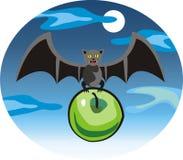 Летучая мышь приносит яблоко Стоковые Фото