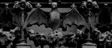 Летучая мышь распространяя свои крыла Стоковая Фотография RF