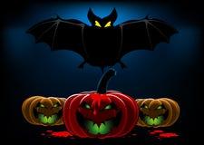 летучая мышь halloween предпосылки Стоковое фото RF