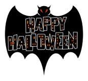 летучая мышь halloween счастливый Стоковое Изображение