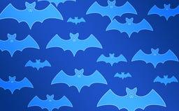 Летучие мыши на голубой предпосылке halloween иллюстрация вектора