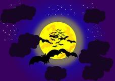 Летучие мыши хеллоуина Стоковые Фотографии RF