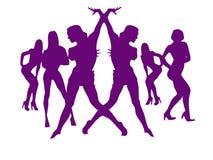 леты девушок танцульки новые сексуальные Стоковые Фото