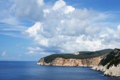 Лефкас - западное побережье Стоковое Фото
