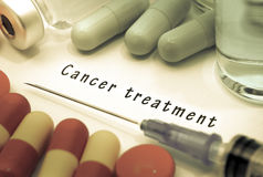Лечение рака стоковая фотография rf