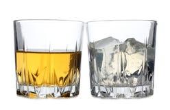 Лед в стекле одном Стоковое фото RF