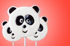 Леденец на палочке в форме панды стоковое фото rf