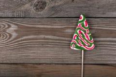 Леденец на палочке конфеты как рождественская елка Стоковые Фото