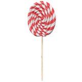 Леденец на палочке 3d рождества красный и белый представляет Стоковые Фото