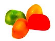 Леденцы на палочке конфеты изолированные на белизне Стоковые Фотографии RF