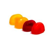 Леденцы на палочке конфеты изолированные на белизне Стоковое фото RF