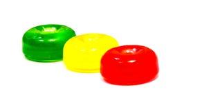 Леденцы на палочке конфеты изолированные на белизне Стоковые Изображения RF